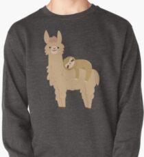 Entzückendes Sloth, das auf einem Lama sich entspannt Sweatshirt