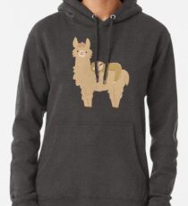 Adorable Sloth Relaxing on a Llama Pullover Hoodie