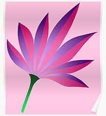 Gradient Pink Flower : on Baby Pink Poster