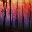 Whispering Woods, Colorful Forest by ItayaArt