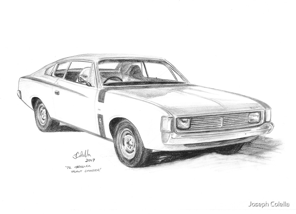 u0026quot 1972 chrysler valiant charger u0026quot  by joseph colella