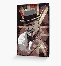 Sir Winston Churchill Greeting Card