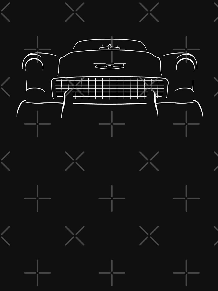 1955 Bel Air - Front Stencil, white by mal-photography
