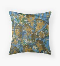 Collective Female Consciousness Transforming to Green Throw Pillow