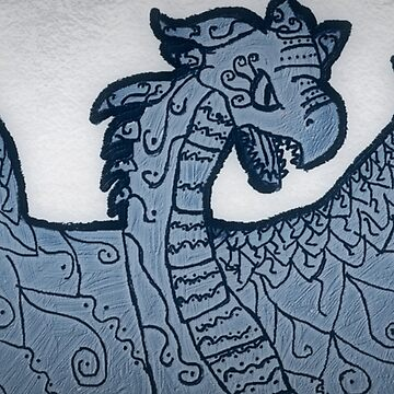 Silver Dragon by BashsArt