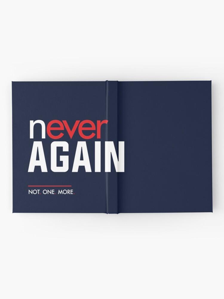 Alternative Ansicht von Nie wieder, Marsch für unser Leben Notizbuch