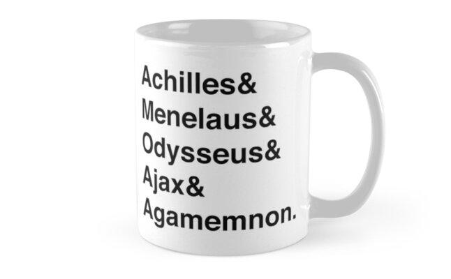 Helvetica Greek Heroes - Trojan War by mythsbaby