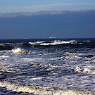 North Sea off Sandsend,North Yorkshire. by Trevor Kersley