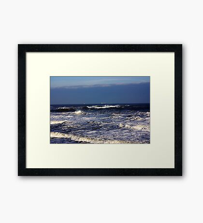 North Sea off Sandsend,North Yorkshire. Framed Print