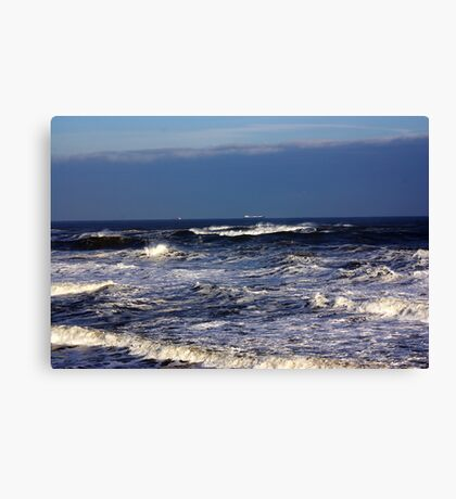 North Sea off Sandsend,North Yorkshire. Canvas Print