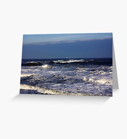 North Sea off Sandsend,North Yorkshire. Greeting Card