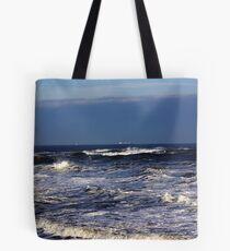 North Sea off Sandsend,North Yorkshire. Tote Bag
