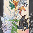 Unicorns, Dragon, Phoenix, Sacred Tortoise by Stephanie Small