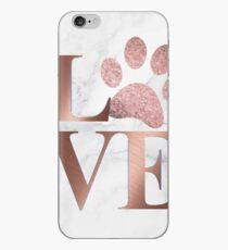 Love is a Four Letter Word - Marble and Rose Gold  iPhone Case