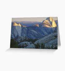 Evening Sunlight, Olmsted Point Greeting Card