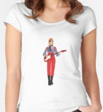 David Bowie Women's Fitted Scoop T-Shirt