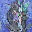 Mermaids, Fairy Seahorse and Water Dragon by Stephanie Small