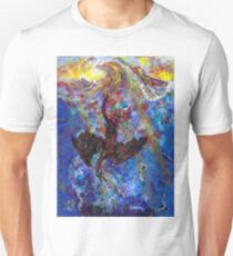 Water Dragon Sunset in the Ocean Waves T-Shirt