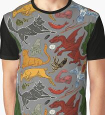 A Pattern of Ice and Fire (color) Graphic T-Shirt