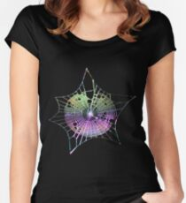 Rainbow Spider Web Women's Fitted Scoop T-Shirt