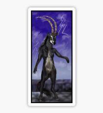 Sable Antelope Human Anthro Sticker