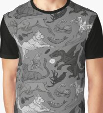 A Pattern of Ice and Fire (b/w) Graphic T-Shirt