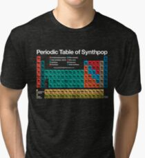 Periodic Table of Synthpop (dark background) Tri-blend T-Shirt