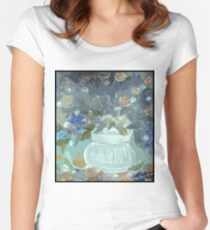 wild roses Women's Fitted Scoop T-Shirt