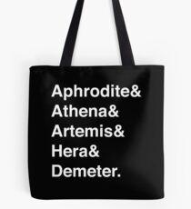 Bolsa de tela Diosas Helvetica (Blanco)