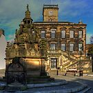 Town House and Well by Tom Gomez