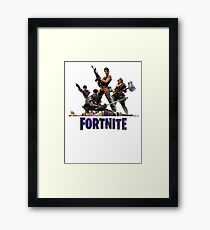 Fortnite with Characters Framed Print