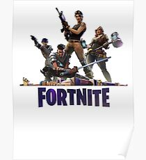 Fortnite with Characters Poster