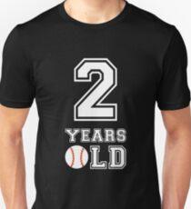 2 Years Old Baseball 2nd Birthday Gift Unisex T Shirt