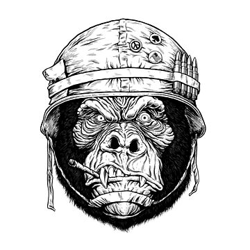 Gorilla soldier design by HINKLE