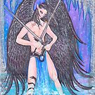 Angel with Swords (Black Wings) by Stephanie Small
