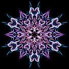 Indigo Blossoming - Energy Mandala - Sacred Geometry  by Leah McNeir