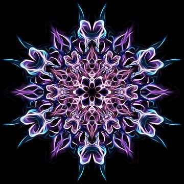 Indigo Blossoming - Energy Mandala - Sacred Geometry  by LeahMcNeir