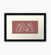 Atlas Genius Vintage Floral Print Framed Print
