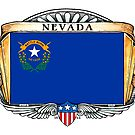 Nevada Art Deco Design with Flag by Cleave