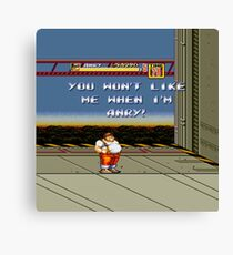 Streets of Rage 2 - Anry Canvas Print