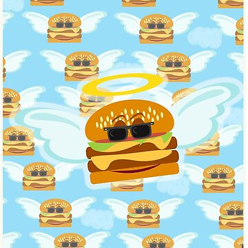 Heavenly Flying Cheeseburger by mytshirtfort