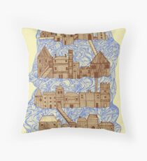 floating village Throw Pillow