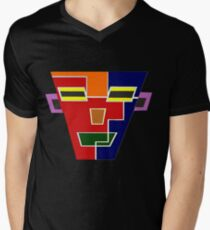 Top Seller 7 (Facemadics colorful contemporary abstract face) V-Neck T-Shirt