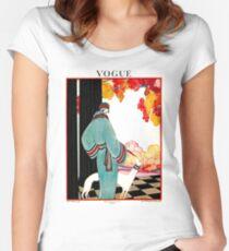 Camiseta entallada de cuello ancho VOGUE: Vintage 1922 Publicidad de impresión