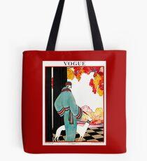 VOGUE : Vintage 1922 Advertising Print Tote Bag
