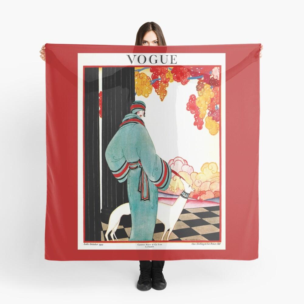 VOGUE: Vintage 1922 Publicidad de impresión Pañuelo