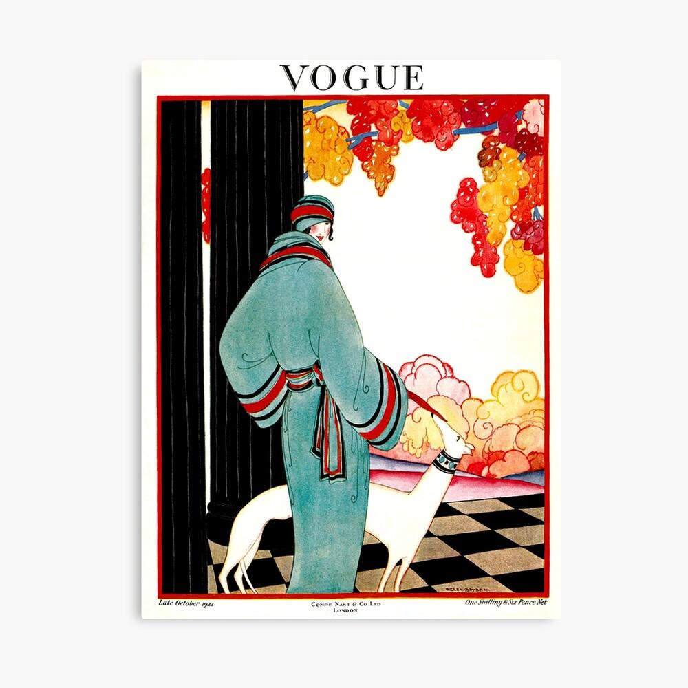 VOGUE: Vintage 1922 Werbung Print Leinwanddruck
