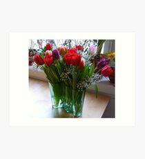 Tulips in an Aalto Art Print