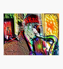 ANATOMY of a SAX MAN Photographic Print