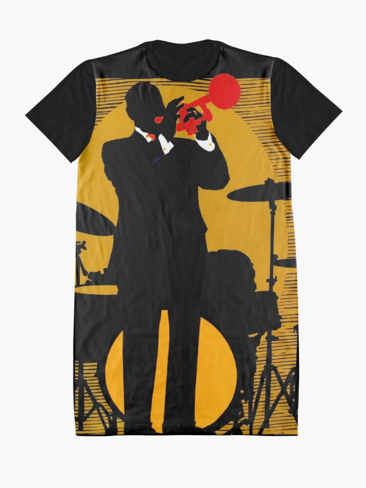 Alternate view of NEW ORLEANS;Vintage Mardi Gras Samba Orpheus Print Graphic T-Shirt Dress